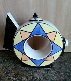 LORNA BAILEY ARTWARE Art Deco Geometric Polo Teapot
