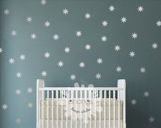 "Star Wall Decal / Sparkle Star Decal / Seeing Star wall decal / Starbursts wall decal / 2.5"" Star sticker / Kids wall decor / Nursery decal"