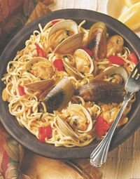 Excellent as is - Make this healthier with whole wheat pasta and even whole wheat bread to sop up the sauce.