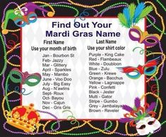 Got to remember this for our nest party!  What's Your Mardi Gras Name? - Lmfao Mine is sparkles jester!