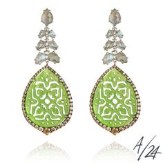 Arabesque Jade Earrings :: Annoushka/24