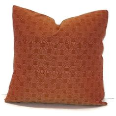Decorative Pillow Cover 18 X 18 Burnt by SydneyKathryns on Etsy