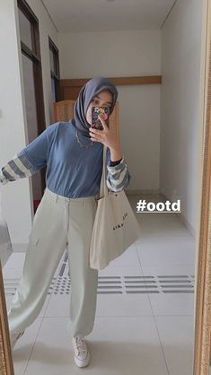 Modest Fashion Hijab, Modern Hijab Fashion, Street Hijab Fashion, Casual Hijab Outfit, Hijab Fashion Inspiration, Ootd Hijab, Hijab Chic, Korean Street Fashion, Muslim Fashion