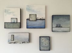 A grouping of my Encaustics for an upcoming show at Eclectic gallery in March 2016