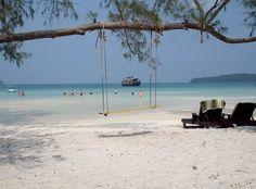 Beautiful beach of Sihanouk Ville. #travel #cambodia