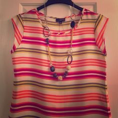 Selling this The Limited Striped Hi-Low Blouse on Poshmark! My username is: aprils03. #shopmycloset #poshmark #fashion #shopping #style #forsale #The Limited #Tops