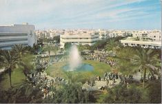 This is official: in 2017 Dizengoff Square will come back to its original beauty with green spaces just as it used to be. Find all about this urban revolution under the TRENDY category of our website [Link in our bio] by happyintlv White City, Non Stop, City Architecture, Old Postcards, Tel Aviv, Comebacks, Israel, Fountain, Past