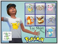 Tee shirt Mixte Pokemon