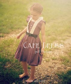 Tween - The Cafe Dress PDF Pattern Sizes 7-14 - Amelie and Henri Patterns