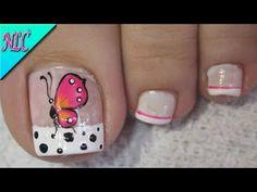 Pedicure Designs, Toe Nail Designs, Toe Nail Art, Toe Nails, Butterfly Nail Art, Pin On, Neutral Nails, Pedicure Nails, French Nails