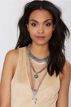 Raina Chain Necklace   Shop Accessories at Nasty Gal! -$35 paddle headpins