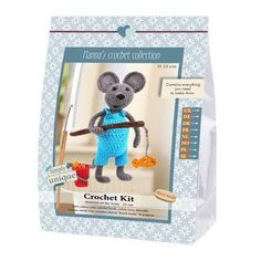Go Handmade Arno the Fisherman Mouse Crochet Kit Crochet