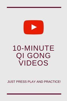 online Qi Gong exercises (10-minute videos) #qigong #qigongforbeginners #qigongexercises
