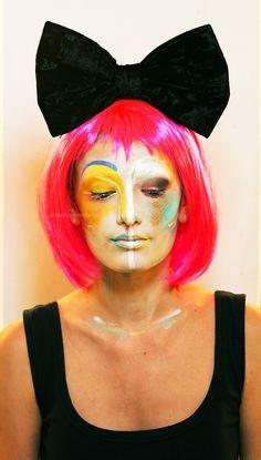 Colorful face art
