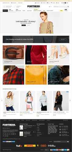 Fortress is a modern and elegant #Magento 2 & 1 Theme for multipurpose #fashion #store eCommerce website with 9 stunning homepage layouts download now➩ https://themeforest.net/item/fortress-multipurpose-responsive-magento-2-and-magento-1-theme/17174990?ref=Datasata
