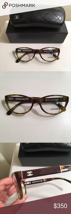 New Chanel green brown tortoise glasses New and never worn. 100% authentic. Comes with case, box, and cleaner. CHANEL Accessories Glasses