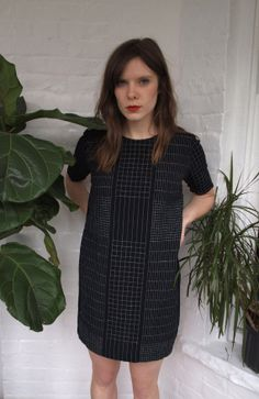 Black and White Grid Shift Dress - Handmade on Etsy, $138.00