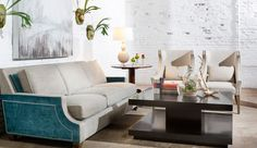 Ordinaire Marty Mason Collected Homeu0027s Customizable Brady Sofa. Give Your Room Some  Punch With Two