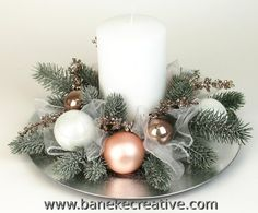 If you cant afford a lot you can make simple changes in such little things and then see the different entire outlook of your home. There are some useful Christmas tablescapes ideas that you must try this time on Christmas. Christmas Candle Decorations, Christmas Arrangements, Christmas Tablescapes, Christmas Candles, Christmas Art, Christmas Wreaths, Christmas Ornaments, Floral Arrangements, Christmas Inspiration