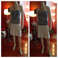 Think you can't wear a tube top - think again. CAbi's Blaine Tube is double fabric, so the inner layer hugs you a little bit, whilst the outer layer is nicely forgiving  The clever design team built in a few different ways in which to wear this, and you can fashion it either of these two ways by simply choosing where to place the side seam. You may even want to wear this as a skirt!! Or maybe you will get two of them and make it a dress!!!!!!     Www.debragrauss.canionline.com