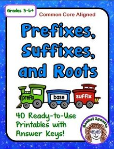 Prefixes, Suffixes & Roots Printables - CCSS Aligned with Spelling And Grammar, Spelling Words, Spelling Ideas, Reading Notebooks, Behavior Management Strategies, Prefixes And Suffixes, Reading Comprehension Skills, Root Words, Teaching Reading