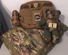 Tactical Diaper Bag set with Camo Teddy Bear