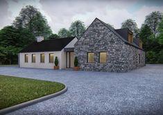 Modern Bungalow House Design, Modern Bungalow Exterior, Modern Farmhouse Exterior, Bungalow Renovation, Farmhouse Renovation, Style At Home, House Designs Ireland, Dormer House, House Outside Design