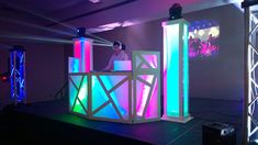 Dj Booth & Glow Towers Setup #JaySe7enEvents