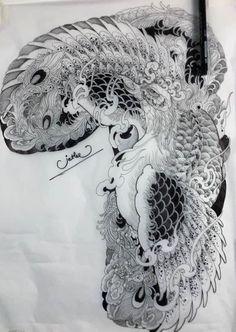 Japanese Phoenix Tattoo, Phoenix Back Tattoo, Japanese Tattoo Art, Japanese Tattoo Designs, Tattoo Time Lapse, Koi Tattoo Design, Geometric Mandala Tattoo, Upper Arm Tattoos, Asian Tattoos