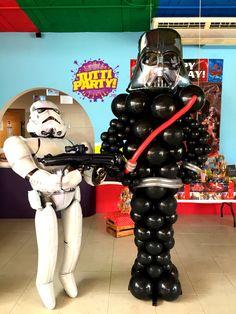 Star wars balloons decorations, globos de Star wars decoraciones para fiestas, globos playa del carmen, tienda de fiestas play del carmen, decoración Riviera maya