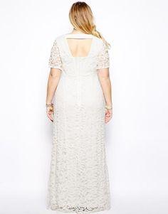 Vestido Tecido de Renda com Forro Plus Size 2 Cores Tamanhos 2 XL a 9XL