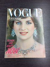 VOGUE Magazine August 1981, Princess Diana cover