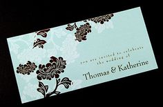These wedding invitations are designed and printed in Australia. They can also be printed in other colours. www.kardella.com