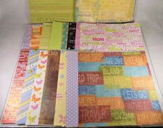 """15 lbs. or 500 loose sheets of #scrapbook #scrapbooking #craft #paper in a 12"""" x 12"""" size in mixed, various and assorted colors and prints incl. special occasions, polka dots, geometric shapes, words and phrases, #holiday themes feat. Christmas and Valentine hearts, and all colors of the rainbow shipped in a USPS Priority large flat rate box, brand new and unused…"""