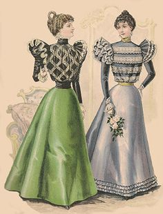 Women's Dress Fashions for October 1897: House Toilettes