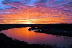 Sunrise over the Ohio ..East Walnut Hills