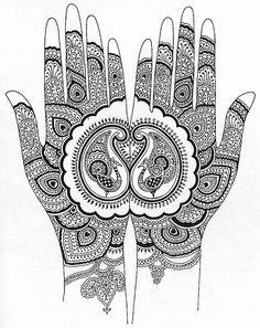 Henna sur les mains