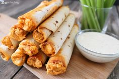 Buffalo Chicken Taquitos are the perfect update on the classic Buffalo Chicken Dip. Combine Buffalo Chicken Dip with Flour Tortillas for the win!