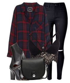 """In Plaid"" by monmondefou ❤ liked on Polyvore featuring WithChic, Rails, Club L, rag & bone and LC Lauren Conrad"
