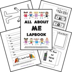 FREE All About Me Lapbook - great for back to school for preschool, kindergarten, 1st grade and 2nd grade kids