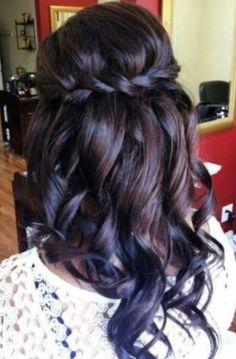 Wedding Hairstyles for Long Dark Hair