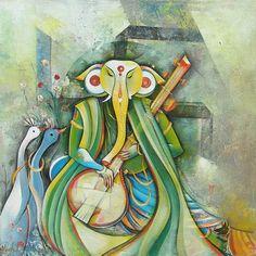 Ganesha Painting at Indian Art Ideas