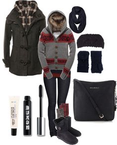 """rustic winter"" by mollybanana on Polyvore"