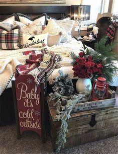 Decoration Christmas, Farmhouse Christmas Decor, Noel Christmas, Rustic Christmas, Xmas Decorations, Cabin Christmas Decor, Christmas Music, Christmas Ideas, Homemade Christmas