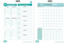 Planning e schede per fare ordine