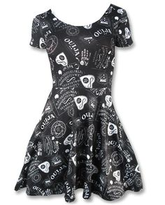 Liquor Brand Damen OUIJA-skate Kleid.Oldschool,Tattoo,Pin up,Biker,Custom Style