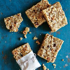 These bars are a perfectly portable snack you can prep on Sunday and enjoy throughout the week. Wrap leftovers tightly in plastic wrap, and store in the fridge. The bars will continue to firm up as they chill.View Recipe: No-Bake Chewy Granola Bars Marie Claire, Chocolate Cereal, Chewy Granola Bars, Cooking Light, Healthy Snacks, Healthy Eating, Protein Snacks, Healthy Recipes, Healthy Breakfasts