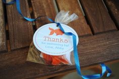 Thanks for swimming by!  Great wording for favor tags.