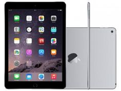 "iPad Air 2 Apple 64GB Cinza Espacial Tela 9,7"" - Retina Processador M8 Câmera 8MP + Frontal"