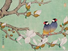 Chang Hsitsun, ''Twin Birds in the Branches''  → For more, please visit me at: www.facebook.com/jolly.ollie.77